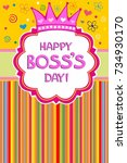 happy boss's day.  celebration... | Shutterstock .eps vector #734930170