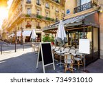 typical view of the parisian... | Shutterstock . vector #734931010