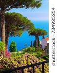 postcard overlooking the gulf... | Shutterstock . vector #734935354