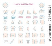 plastic surgery face correction ... | Shutterstock .eps vector #734938114