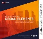 design element for corporate... | Shutterstock .eps vector #734940118