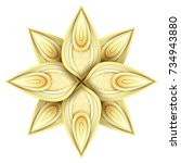 gold beautiful decorative... | Shutterstock .eps vector #734943880