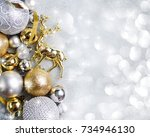 christmas festive background... | Shutterstock . vector #734946130
