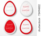 easter eggs labels. vector... | Shutterstock .eps vector #73494832