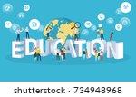 flat design style web banner... | Shutterstock .eps vector #734948968