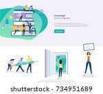 flat design banner and elements ... | Shutterstock .eps vector #734951689
