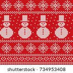 Knit Christmas Design With...