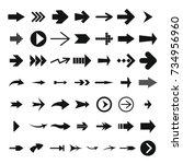 different arrow icon set.... | Shutterstock .eps vector #734956960