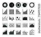 chart diagram icon set. simple...