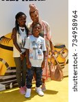 "Small photo of LOS ANGELES, CA - June 24, 2017: Torrei Hart, Heaven Hart & Hendrix Hart at the world premiere for ""Despicable Me 3"" at the Shrine Auditorium"