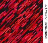 color abstract random diagonal... | Shutterstock .eps vector #734969179