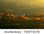 evening in kasperske hory with... | Shutterstock . vector #734972578