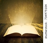 open book. education and wisdom ... | Shutterstock . vector #734975104