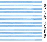 watercolor seamless pattern... | Shutterstock . vector #734977750