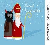 Cute Saint Nicholas With Devil...