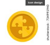 crypto money coin icon | Shutterstock .eps vector #734991940