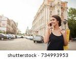 portrait of young good looking... | Shutterstock . vector #734993953