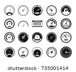 dashboard icon set. simple set... | Shutterstock .eps vector #735001414