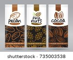 nuts packaging set 3   Shutterstock .eps vector #735003538