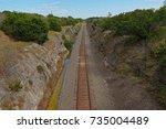 Rail Road Track Winds Its Way...