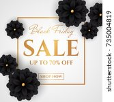 black friday sale. discount web ... | Shutterstock .eps vector #735004819
