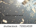 merry christmas and happy new... | Shutterstock .eps vector #735014539