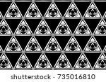 ornament with elements of black ... | Shutterstock . vector #735016810