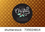 merry christmas with... | Shutterstock .eps vector #735024814