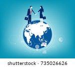 global business. business...   Shutterstock .eps vector #735026626
