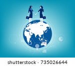 global business. business... | Shutterstock .eps vector #735026644
