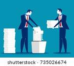 a businessman is shredding... | Shutterstock .eps vector #735026674