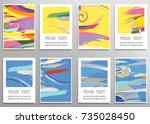 set of artistic backgrounds ... | Shutterstock .eps vector #735028450