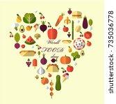 world food day | Shutterstock .eps vector #735036778