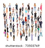 concept a lot of people big...   Shutterstock . vector #73503769