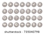 set of buttons for games ... | Shutterstock .eps vector #735040798