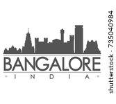 bangalore india skyline...   Shutterstock .eps vector #735040984