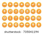 set of buttons for games ... | Shutterstock .eps vector #735041194