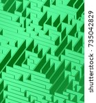 3d maze viewed from above in...