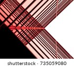 urban geometry  looking up to... | Shutterstock . vector #735059080