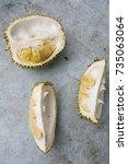 Small photo of Opened durian yellow flesh.