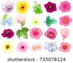 flower set | Shutterstock . vector #735078124