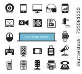 electronic device icons set | Shutterstock .eps vector #735081220