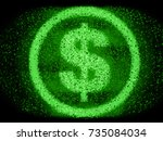 money concept made by usa... | Shutterstock . vector #735084034