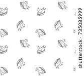 seamless pattern hand drawn... | Shutterstock .eps vector #735085999