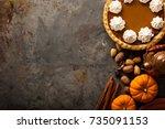 Sweet Pumpkin Pie Decorated...