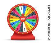 realistic detailed 3d wheel...   Shutterstock .eps vector #735092356