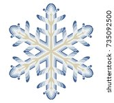 a symbolic snowflake. element... | Shutterstock .eps vector #735092500