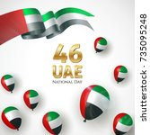 2 december. united arab... | Shutterstock .eps vector #735095248