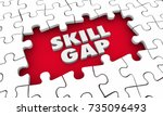 skill gap knowledge expertise... | Shutterstock . vector #735096493