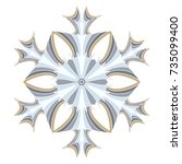 a symbolic snowflake. element... | Shutterstock .eps vector #735099400